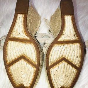 Ivanka Trump Shoes - Ivanka Trump Ankle Wrap Tie Wedge 9.5